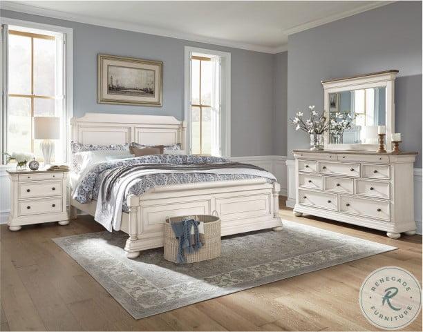 Lafayette White Sleigh Bedroom Set