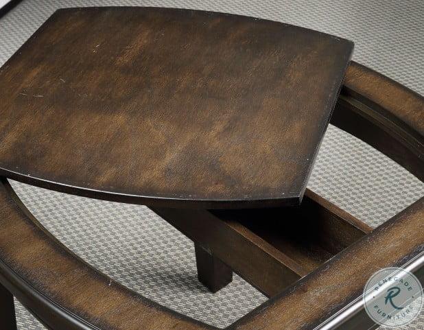 Diletta Dark Walnut Occasional Table Set With Foosball