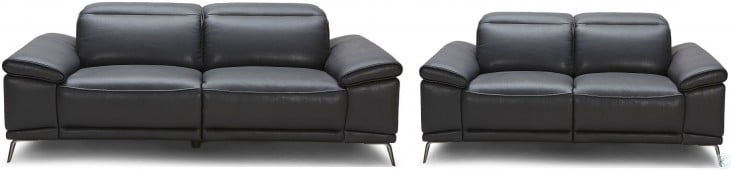 Giovani Black Leather Power Reclining Living Room Set