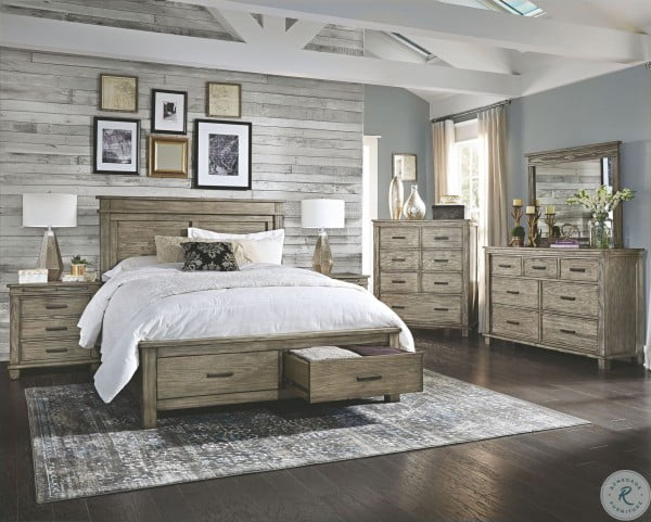 Glacier Point Greystone Panel Storage Bedroom Set