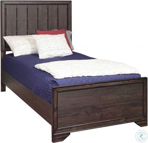 Granite Falls Espresso Brown Twin Panel Bed