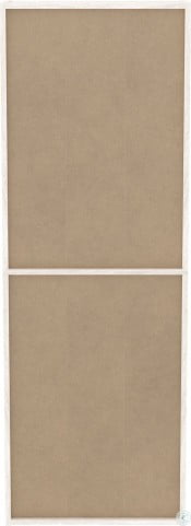 """Dorrinson White and Brown 55"""" Home Office Set"""