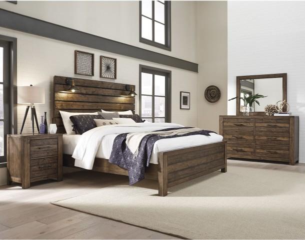 New Haven Rustic Amber Bedroom Set
