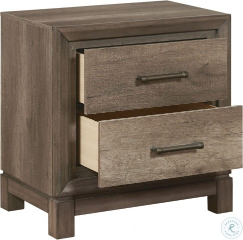 Hanover Square Elm Brown Drawer Nightstand