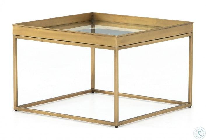 Asher Antique Brass Kline Bunching Table