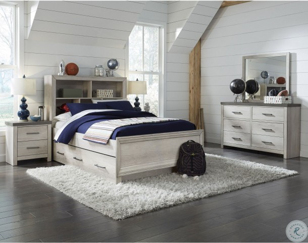 Riverwood Gray Youth Bookcase Bedroom Set With Trundle