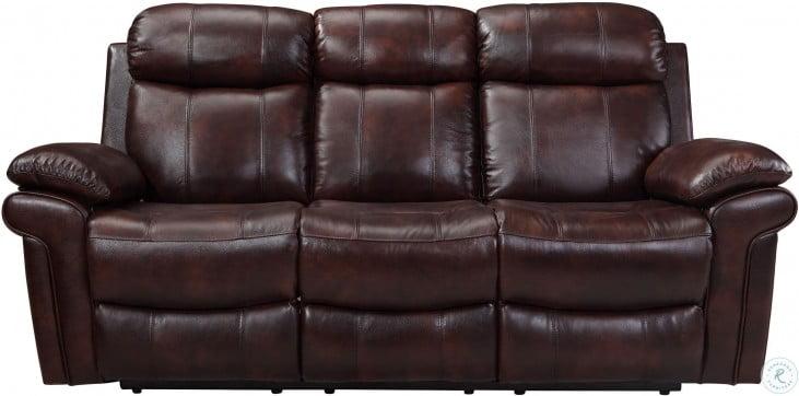Shae Joplin Brown Leather Power Reclining Living Room Set