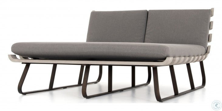 Solano Charcoal Dimitri Outdoor Double Chaise