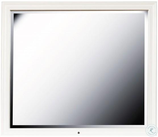 Bella White Framed Dresser Mirror