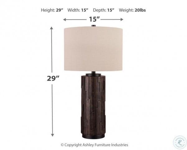 Makya Black Poly Outdoor Table Lamp Set of 2