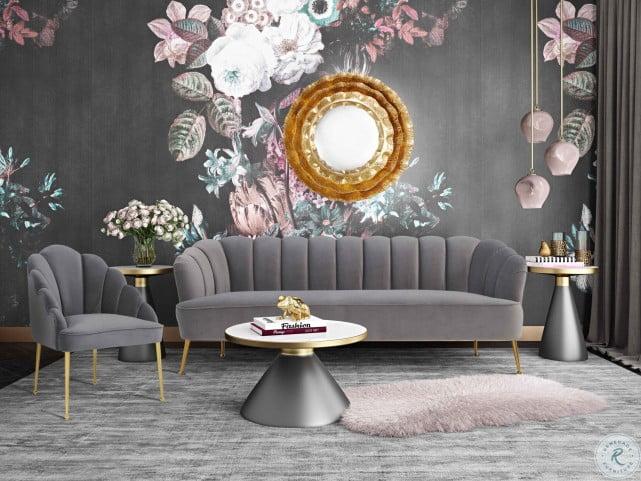 Daisy Petite Grey Velvet Sofa