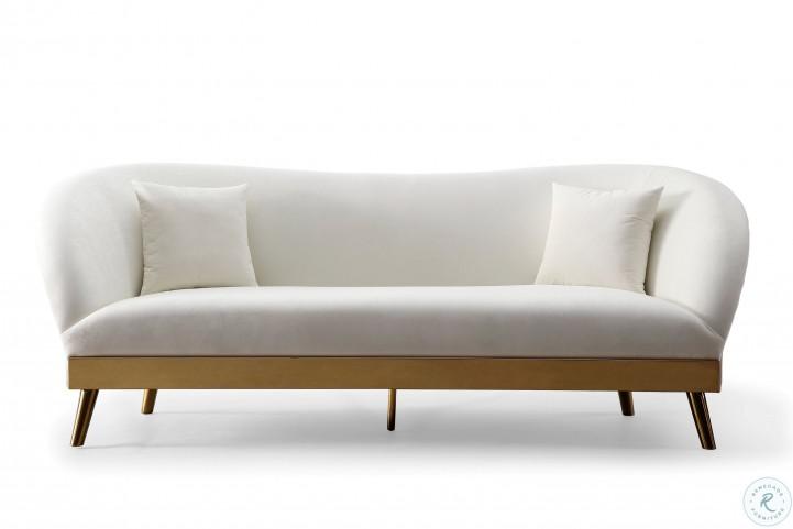 Chloe Cream Velvet Sofa