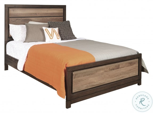 Harrison Brown Twin Panel Bed