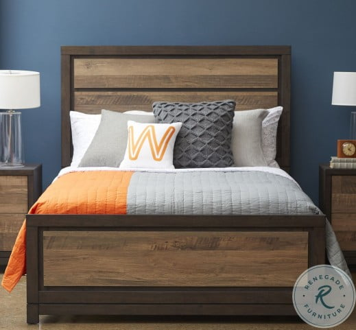 Harrison Brown Twin Panel Bed With Trundle Storage
