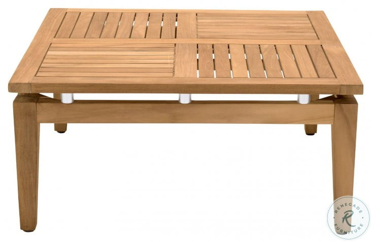 Arno Teak Wood Outdoor Square Coffee Table