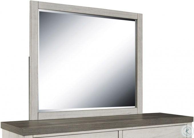 Riverwood Framed Gray Mirror