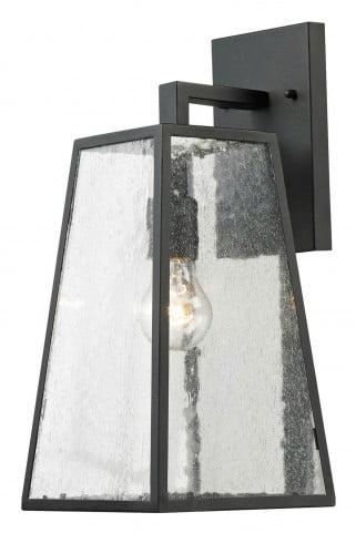 """Osmond 7"""" Matte Black 1 Light Outdoor Wall Sconce"""