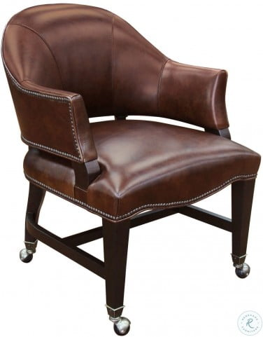 Joker Brown Leather Game Chair