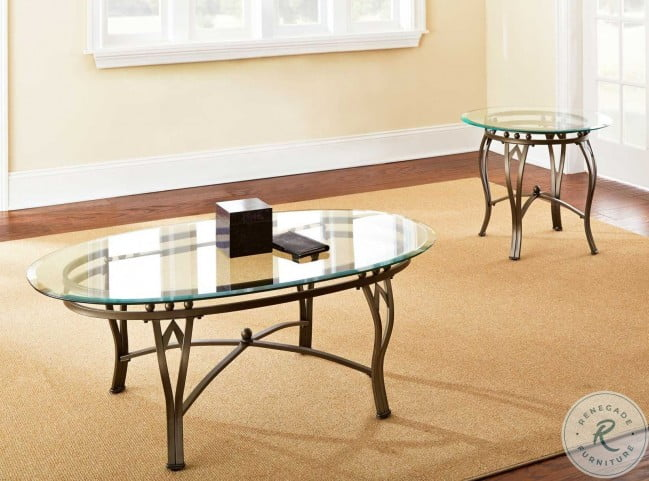 Madrid Round Glass Top End Table