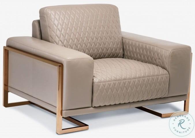 Mia Bella Peach Leather Chair and A Half