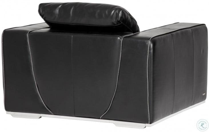 Mia Bella Onyx Leather Chair