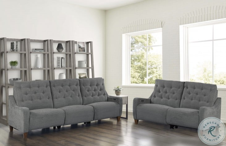 Chelsea Willow Gray Power Reclining Living Room Set