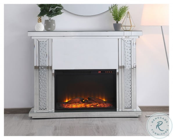 MF98901-F1 Raiden Clear Square Mantle With Fireplace