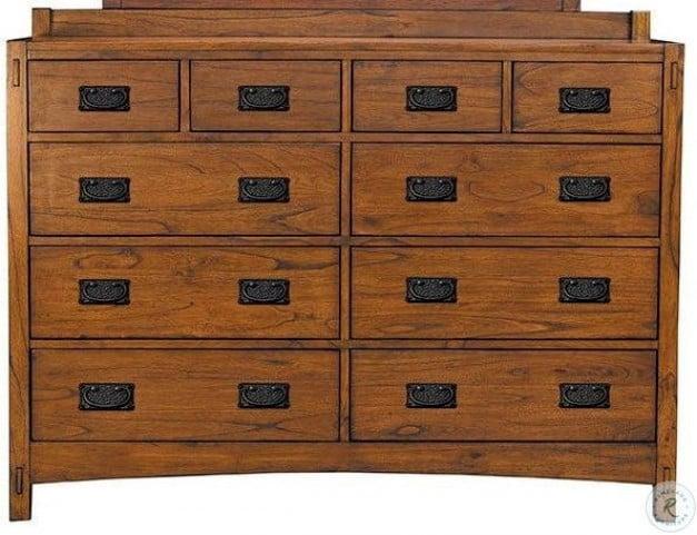 Mission Hill Medium Harvest 10 Drawer Dresser