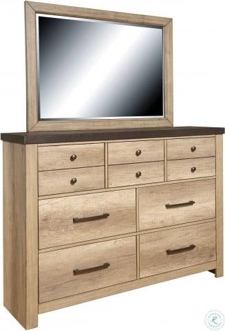 Barnwood Brown Dresser Mirror