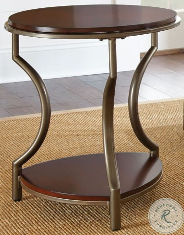 Miles Merlot Round Occasional Table Set