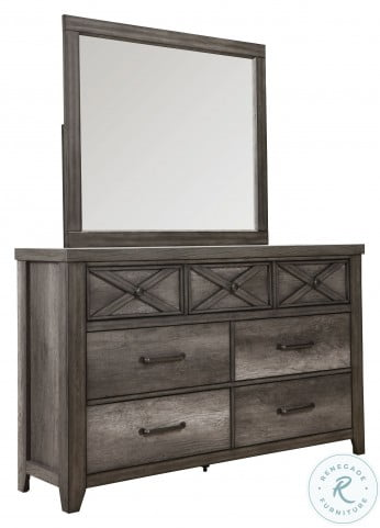 Xavier Gray Youth Panel Bedroom Set with Trundle Storage Unit