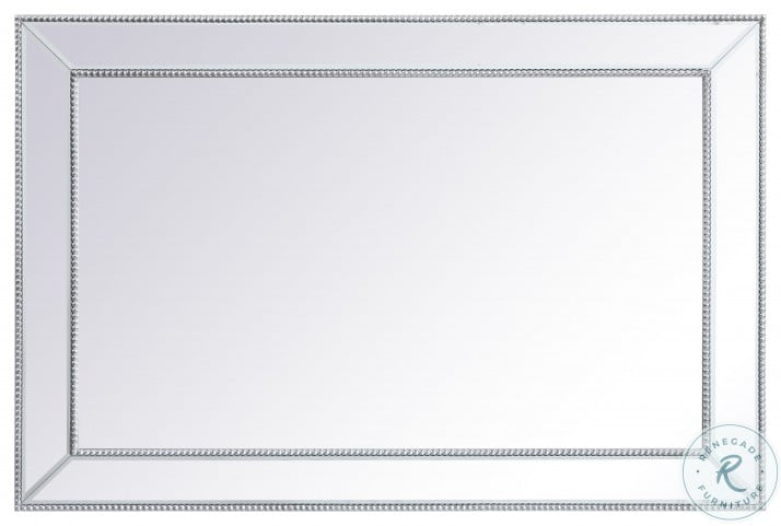 MR33248S Iris Antique Silver Rectangle Vanity Mirror