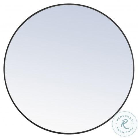 MR4044BK Eternity Black Round Vanity Mirror