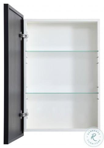 MR572028BLK Wyn Black Rectangle Medicine Cabinet