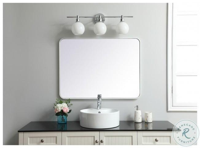 MR802736WH Evermore White Rectangle Vanity Mirror