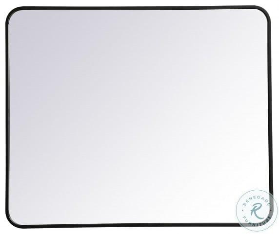 MR803036BK Evermore Black Rectangle Vanity Mirror