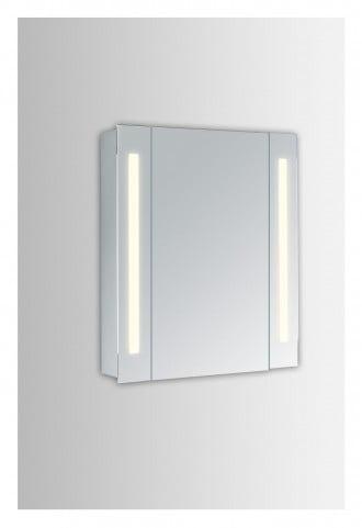 "MRE8011 Elixir 24"" Rectangular Silver Powder Coating Mirror Medicine Cabinet With 5000k Temperature"