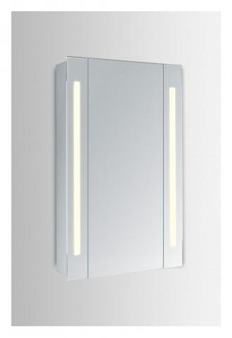 "MRE8012 Elixir 24"" Rectangular Silver Powder Coating Mirror Medicine Cabinet With 5000k Temperature"
