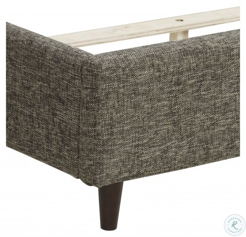 Urban Eclectic Gray King Upholstered Bed