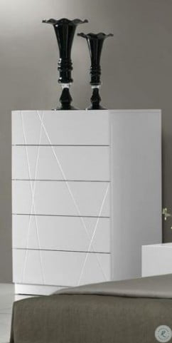 Naples White Lacquer Youth Platform Bedroom Set