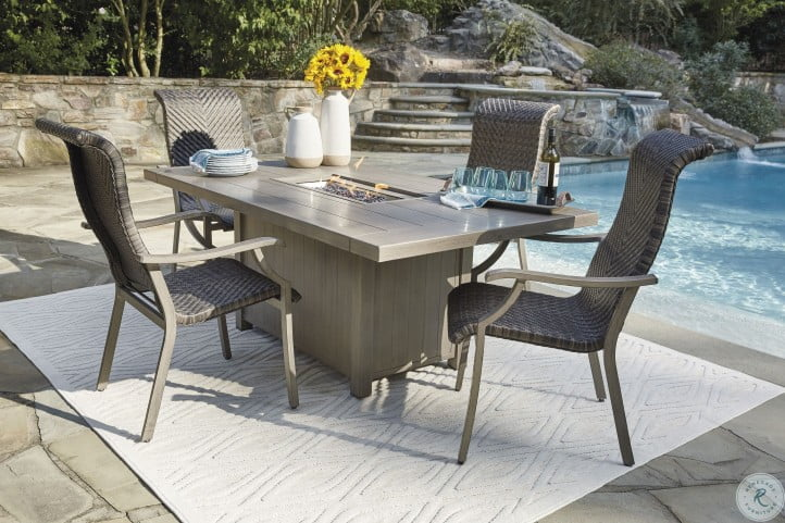 Windon Barn Brown Outdoor Arm Chair Set Of 4