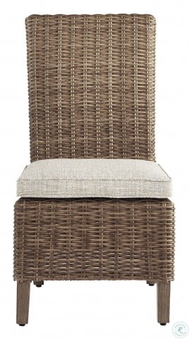 Beachcroft Beige Outdoor Side Chair with Cushion Set of 2
