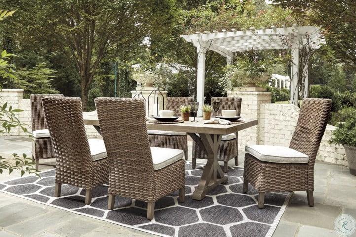 Beachcroft Beige Rectangular Outdoor Dining Table