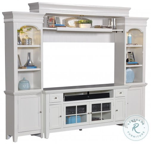 """Tidewater Vintage White 84"""" TV Console"""