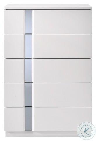 Palermo White Lacquer Platform Bedroom Set