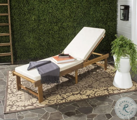 Inglewood Natural and Beige Outdoor Chaise Lounge Chair