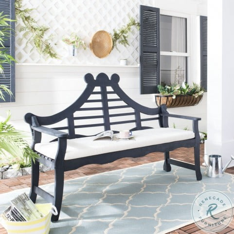 Azusa Dark Slate Gray Outdoor Bench