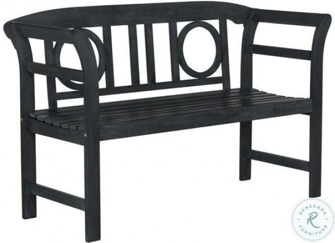 Moorpark Dark Slate Gray 2 Seat Outdoor Bench