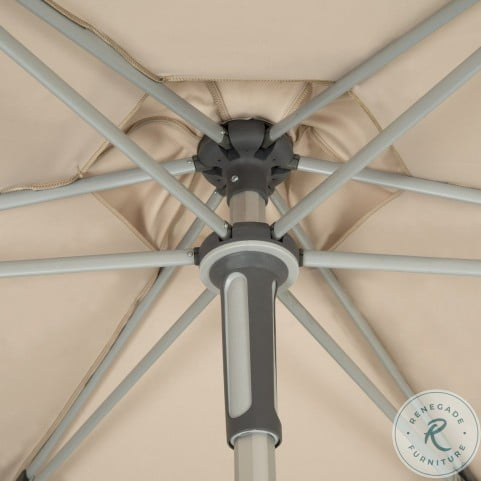 Hurst Beige UV Resistant Easy Glide Market Outdoor Umbrella