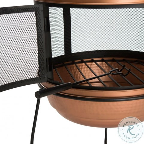 Lima Copper And Black Outdoor Chiminea